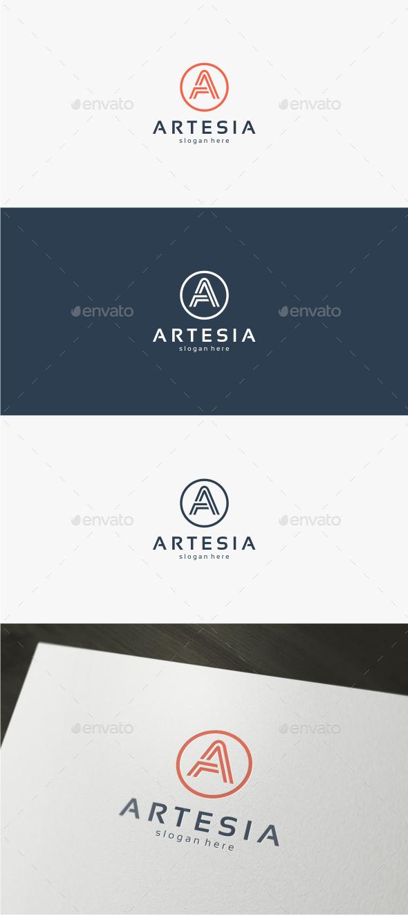 GraphicRiver Artesia Letter A Logo Template 11821947