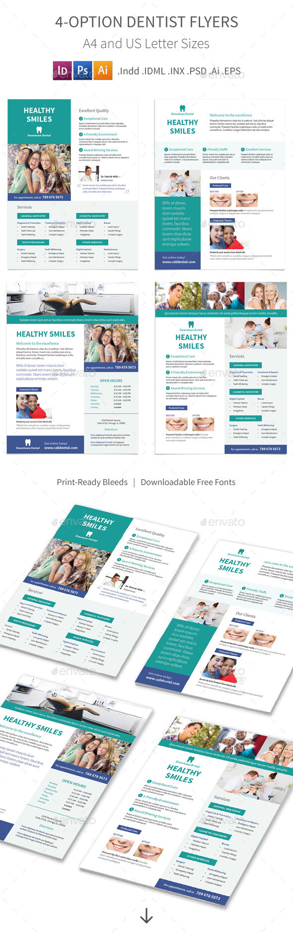 GraphicRiver Dentist Flyers 4 Options 11822128