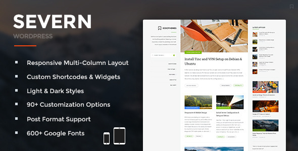 ThemeForest Severn Responsive WordPress Blog Theme 11642117