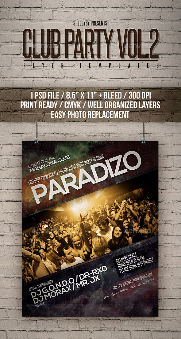 GraphicRiver Club Party Flyer Templates Vol 2 11822547