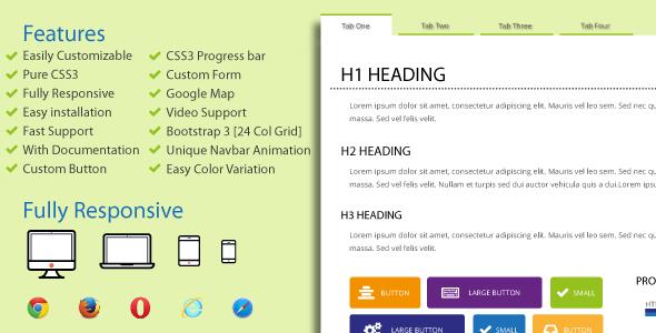 CodeCanyon Tabulation CSS3 & HTML5 Tab 11744322