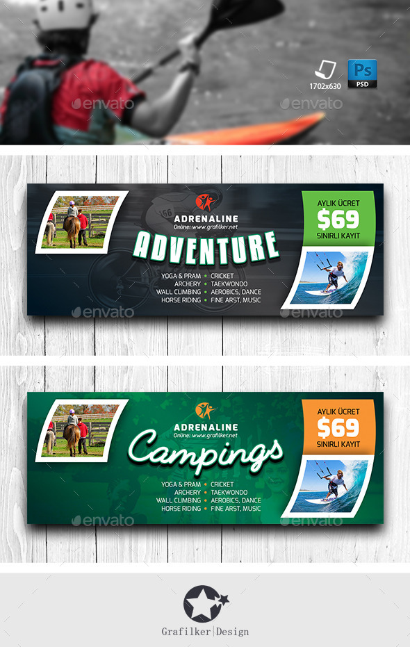GraphicRiver Adventure Facebook Cover Templates 11823032
