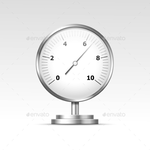 GraphicRiver Vector Pressure Gauge Manometer Isolated 11823353
