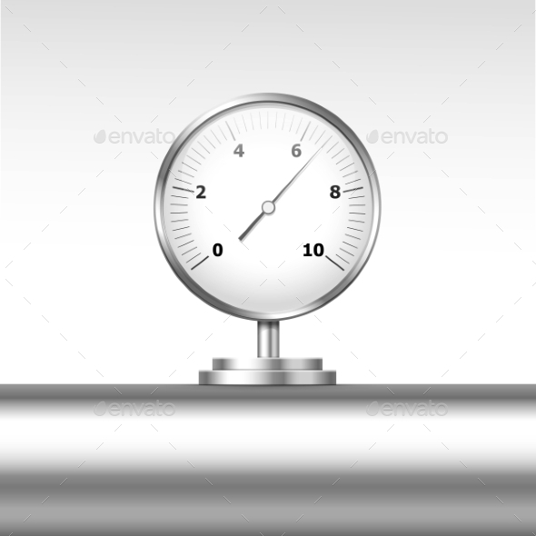 GraphicRiver Vector Pressure Gauge Manometer Isolated 11823370