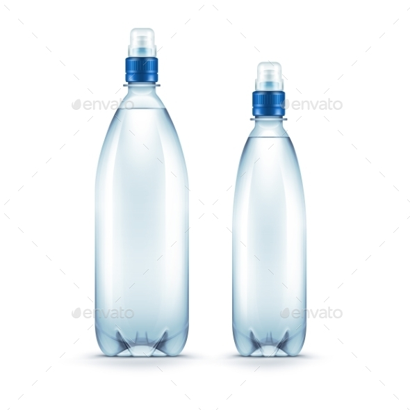 GraphicRiver Plastic Blue Water Bottle Isolated 11823463