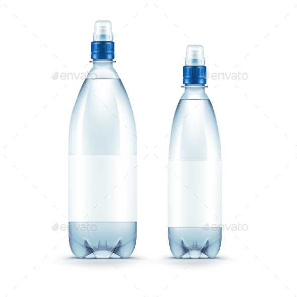 GraphicRiver Vector Blank Plastic Blue Water Bottle Isolated 11823465