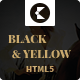 Black & Yellow HTML5 Magazine Template