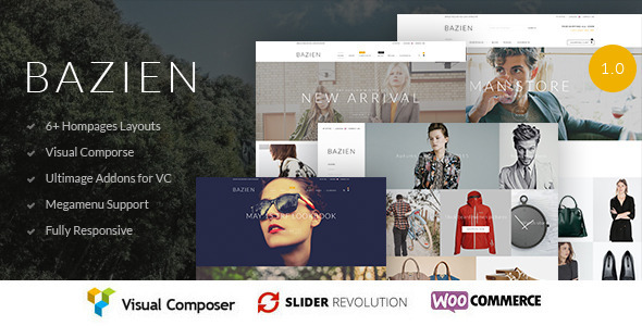 ThemeForest Bazien WordPress Woocommerce Responsive Theme 11823552