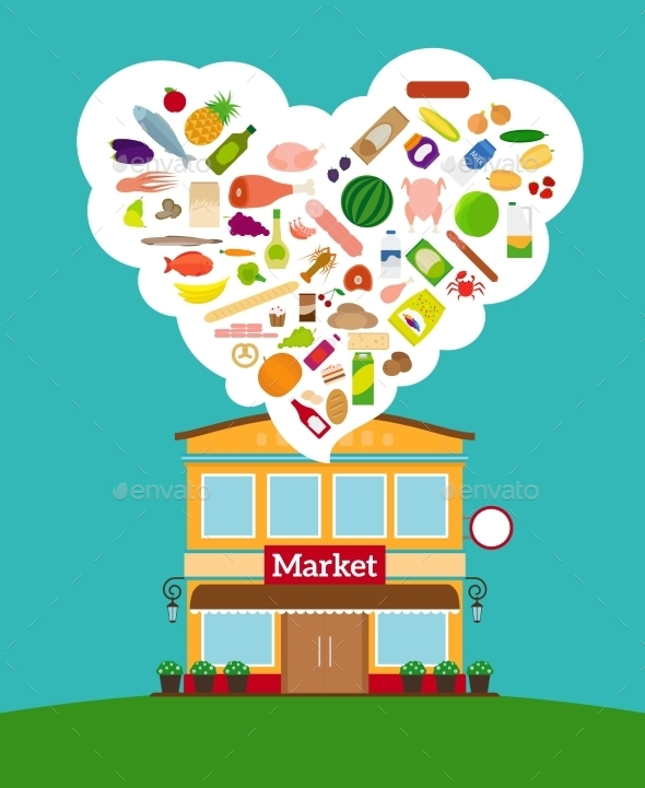 GraphicRiver Grocery Store 11824393