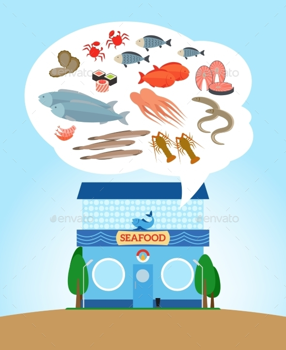 GraphicRiver Seafood Store 11824412