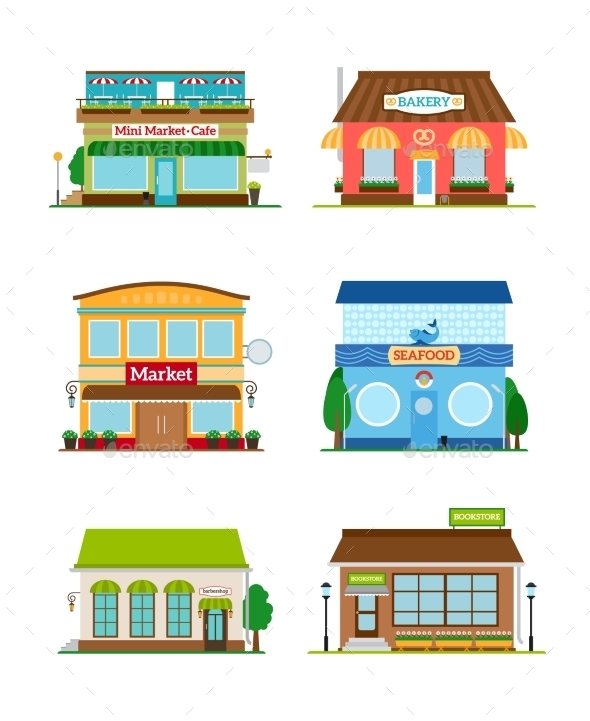 GraphicRiver Shop Store Facade Set 11824432