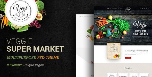 Veggie Super Market | Multipurpose PSD Template (Food) Download