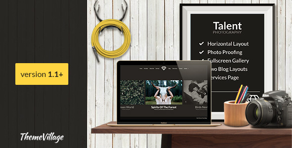 24 - Talent - Horizontal Photography WordPress Theme