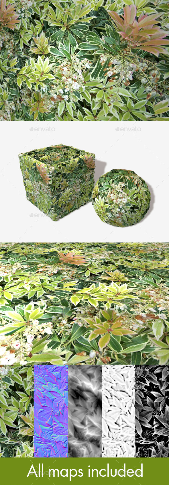 Shrubbery Seamless Texture - 3DOcean Item for Sale