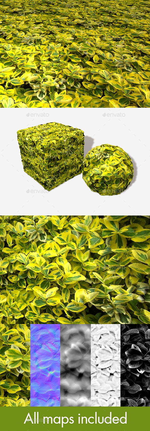 3DOcean Yellow Leaves Seamless Texture 11824908
