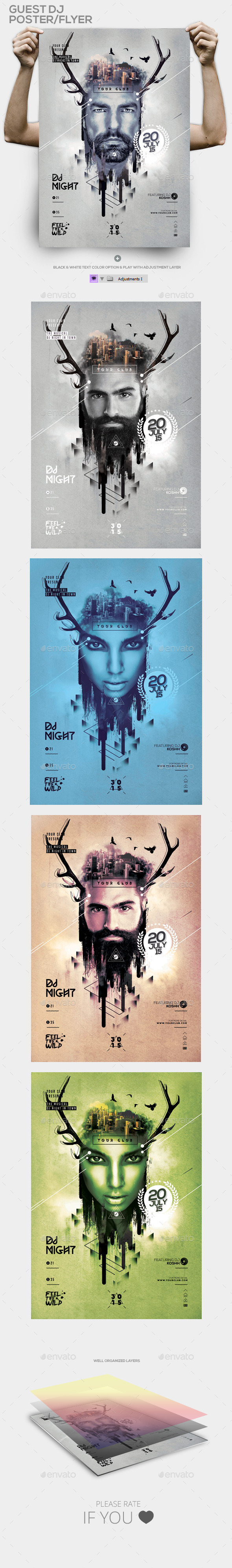 GraphicRiver Club Guest Dj Template PSD Flyer Poster 11783258