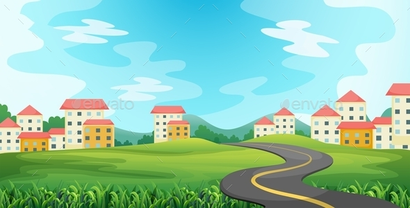 GraphicRiver Country Road 11825276