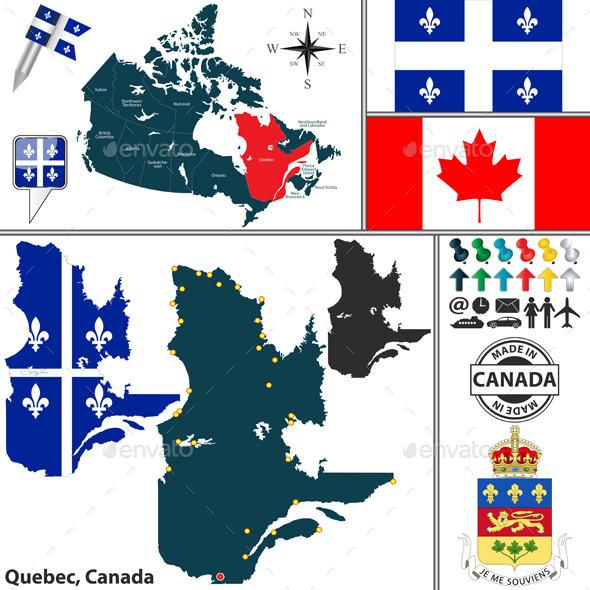 GraphicRiver Map of Quebec Canada 11825814