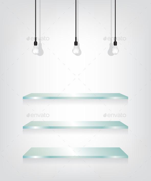 GraphicRiver Glass Shelves and Bulbs 11825837