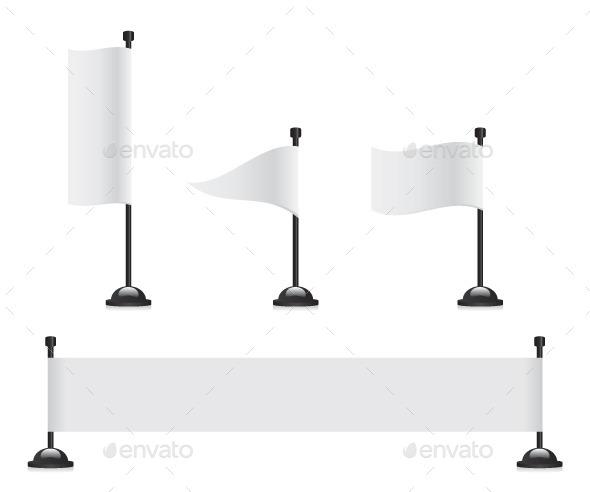 GraphicRiver Flag Banner Set 11826035
