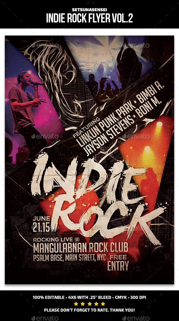 GraphicRiver Indie Rock Flyer Vol 2 11826371