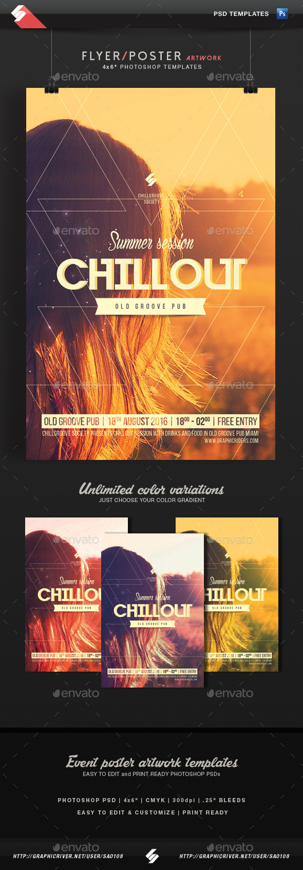 GraphicRiver Summer Chillout Session Flyer Template 11826425