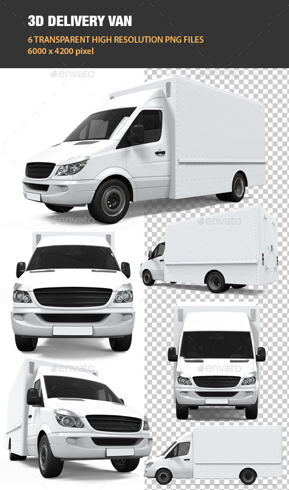 GraphicRiver 3D Delivery Van 11826572