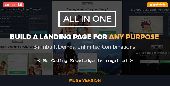 All in One - Parallax Muse Template