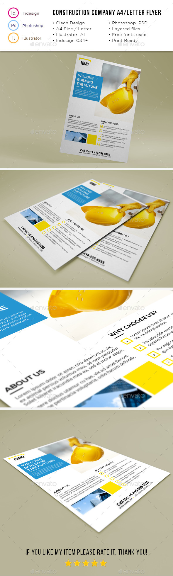 GraphicRiver Construction Company A4 Letter Flyer 02 11826733