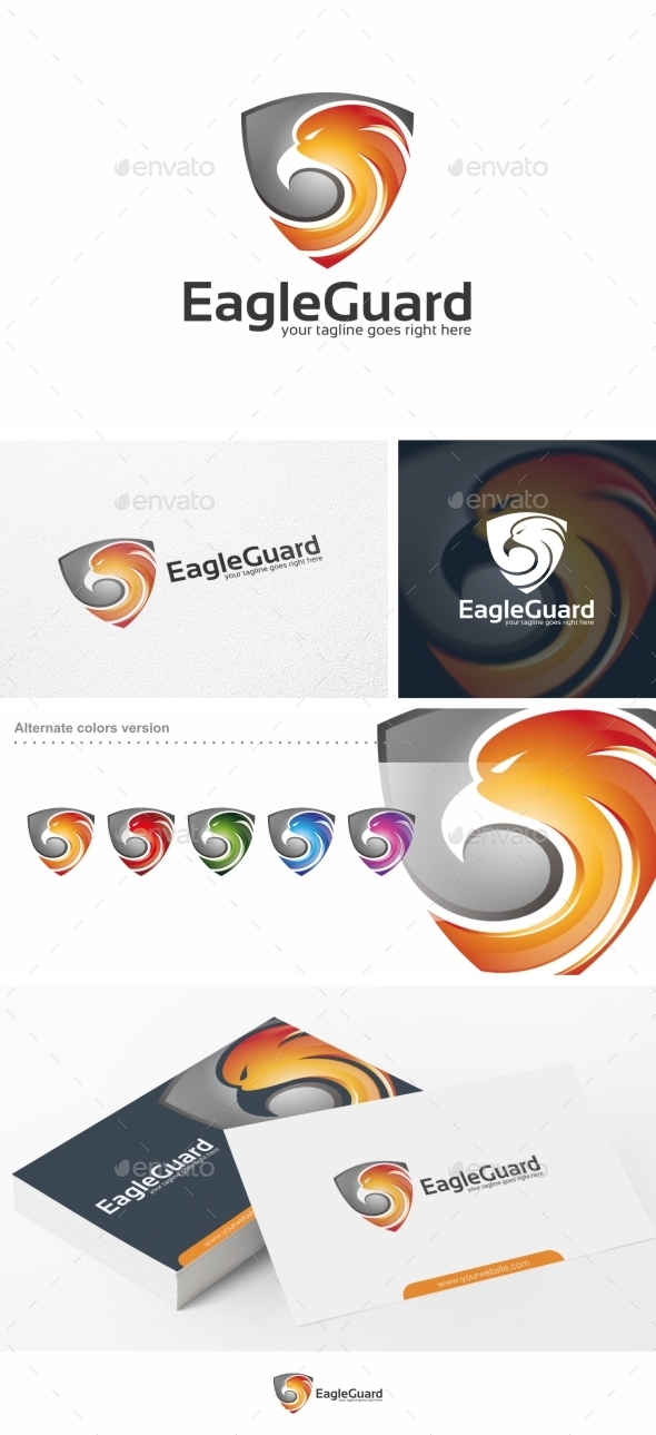 GraphicRiver Eagle Guard Logo Template 11827125