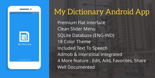 CodeCanyon My Dictionary with Admob 11827217