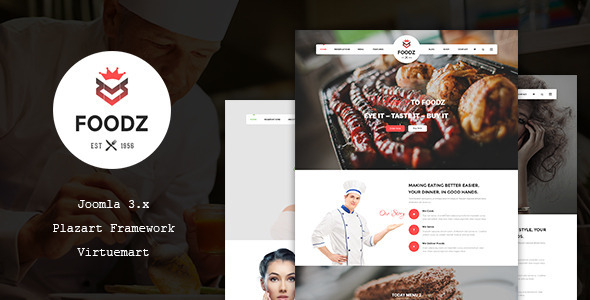 ThemeForest Foodz Restaurant Spa & Salon Joomla Template 11827234