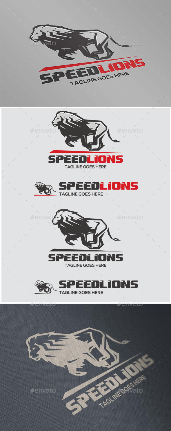 GraphicRiver Speed Lions 11827245