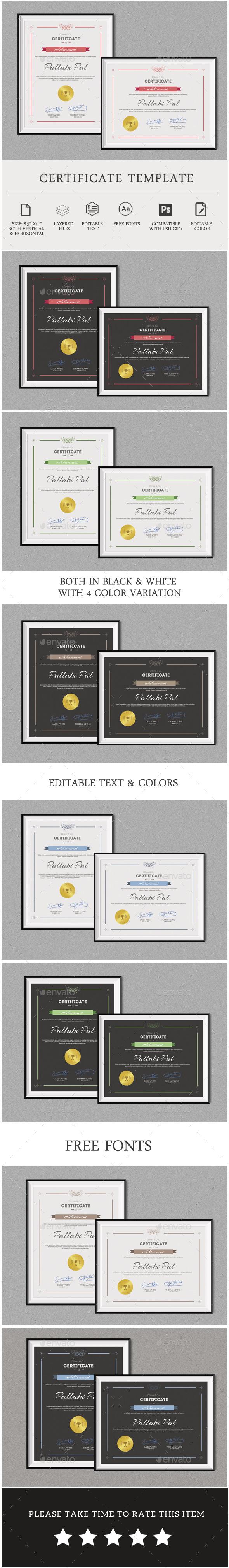 GraphicRiver Multipurpose Certificate Template 11827388