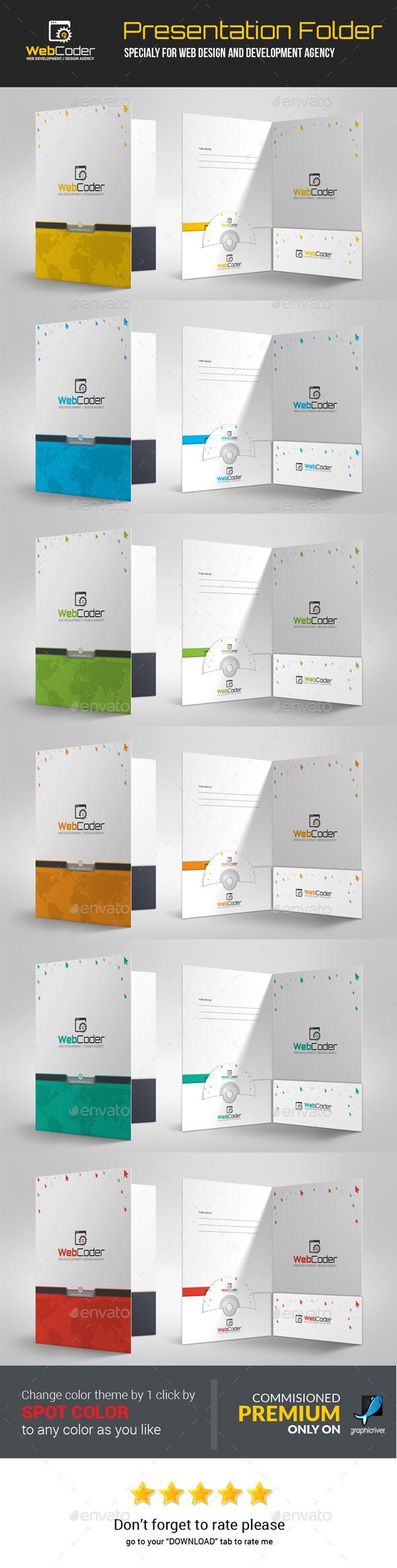 GraphicRiver Web Coder Web Design Agency Presentation Folder 11827435