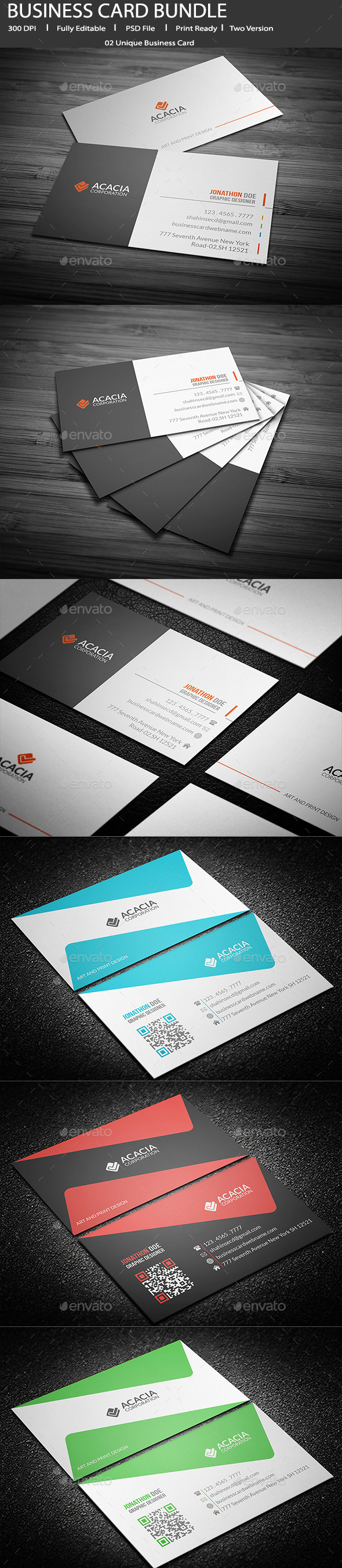 GraphicRiver Bundle- 2 in 1 Business Card 11827523