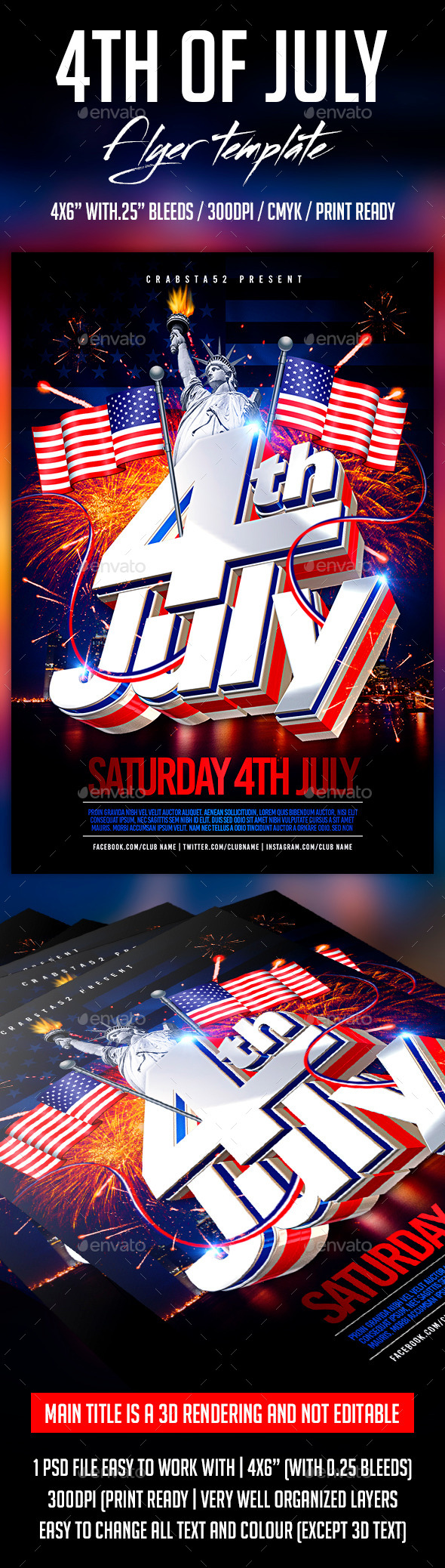 GraphicRiver 4th of July Flyer Template 11827544