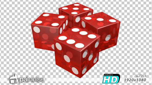 Dice Roll Red Casino Transparent