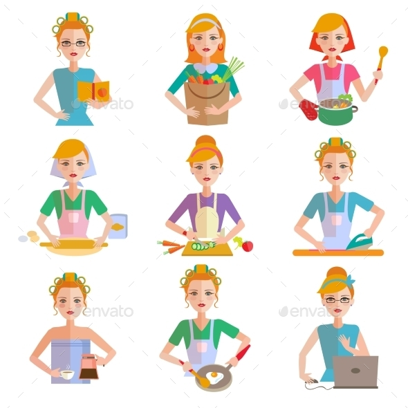 GraphicRiver Housewife Icon Set 11827678