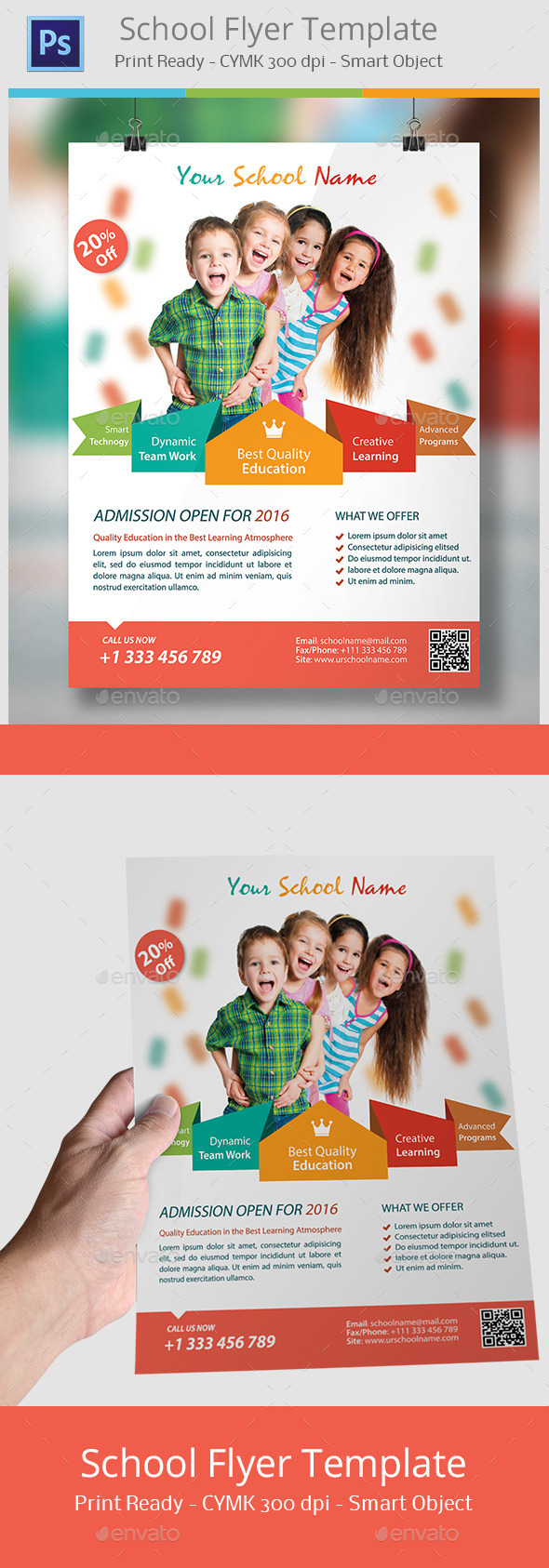 GraphicRiver School Flyer 11800745
