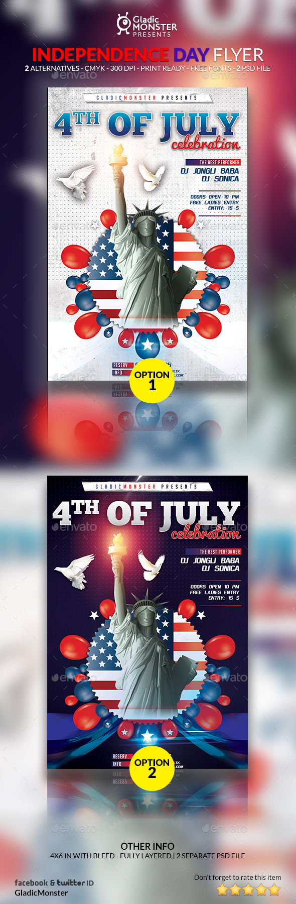 GraphicRiver 4th of July Independence Day Flyer 11827748