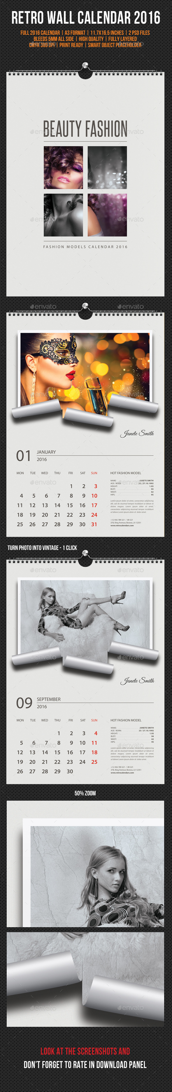 GraphicRiver Wall Calendar 2016 Retro Photo V02 11827782