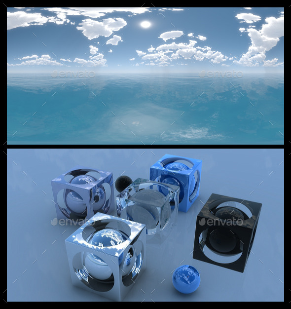 3DOcean Ocean Blue Clouds 2 HDRI 11827790