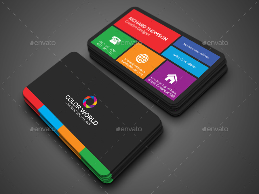 Color business card by zavad graphicriver for Business card colors
