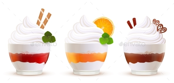 GraphicRiver Sweet Summer Desserts Set 11827991