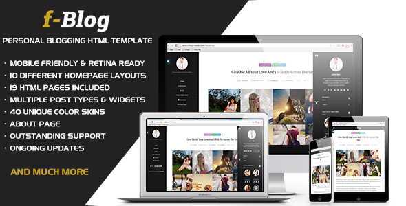 FlexyBlog - Responsive Personal Blog Template