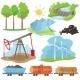 Eco Energy Design Concept Set