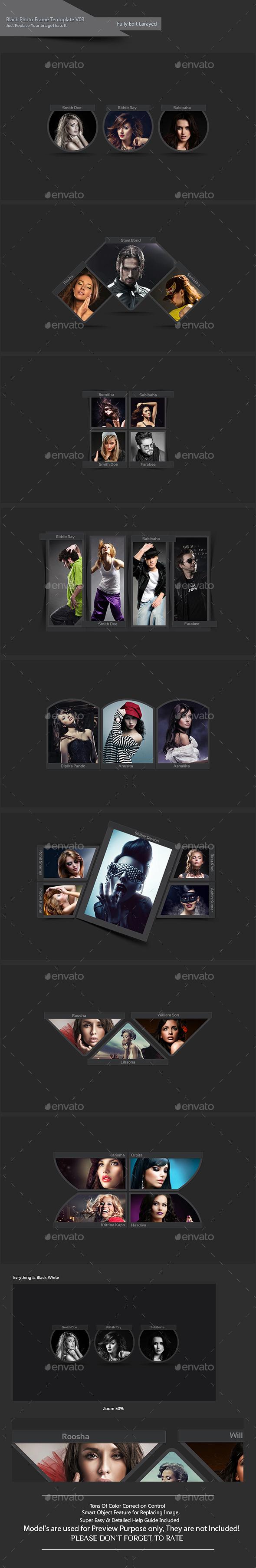 GraphicRiver Black Photo Frame Template V03 11828057