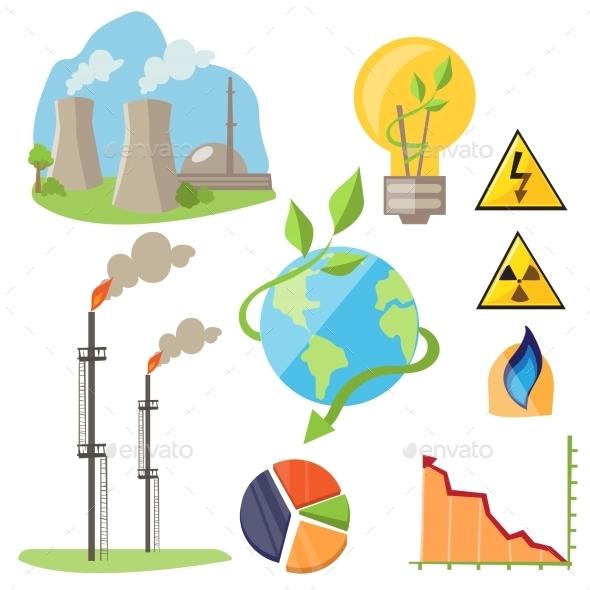 GraphicRiver Eco Energy Design Concept Set 11828058