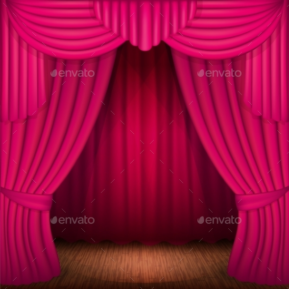 GraphicRiver Pink Curtains 11828147